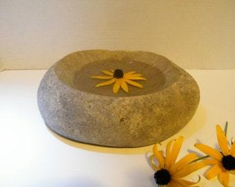 Table Centerpiece, Stone Bowl, Centerpiece Rock Bowl