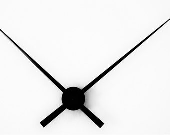 Large Modern Minimalistic Hands Only Wall Clock