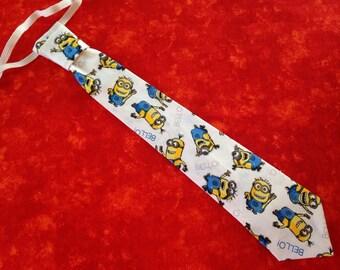 Adjustable  Childrens Minion tie