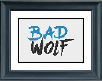 Bad Wolf - Doctor Who - PDF Cross-Stitch Pattern - Dr Who