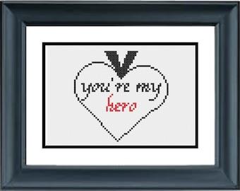 You're My Hero - Wreck It Ralph Cross Stitch Pattern - Disney - PDF Cross-Stitch Pattern