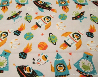 Meteor fabric etsy for Space flannel fabric
