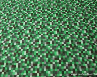 Flannel Fabric - 16 Bit Green - 1 yard - 100% Cotton Flannel