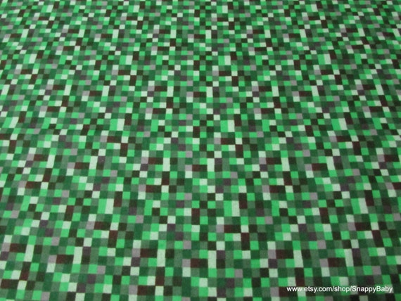 Flannel fabric 16 bit green 1 yard 100 cotton flannel for Minecraft fabric by the yard