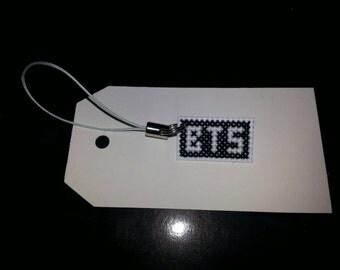Bangtang Boys (BTS) kpop cell charm / zipper pull