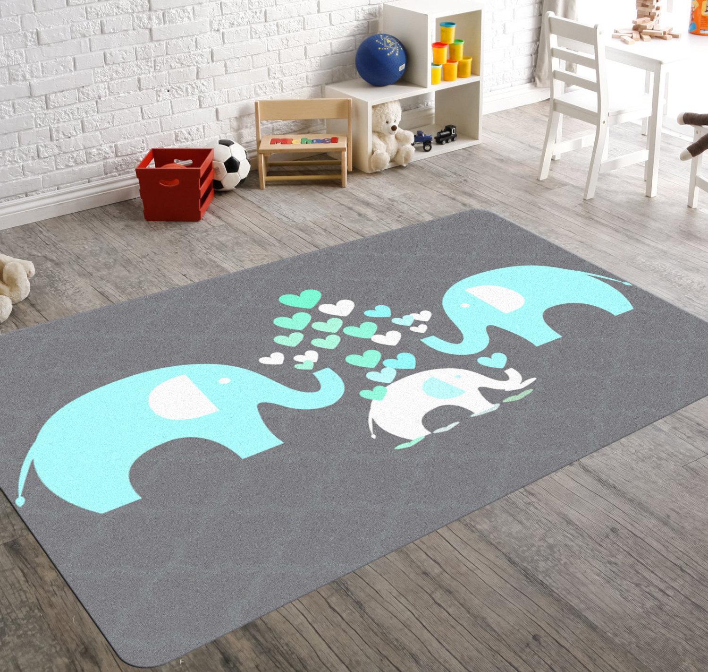 Elephant Rug Elephant Nursery Decor Rugs For By Hawkerpeddler