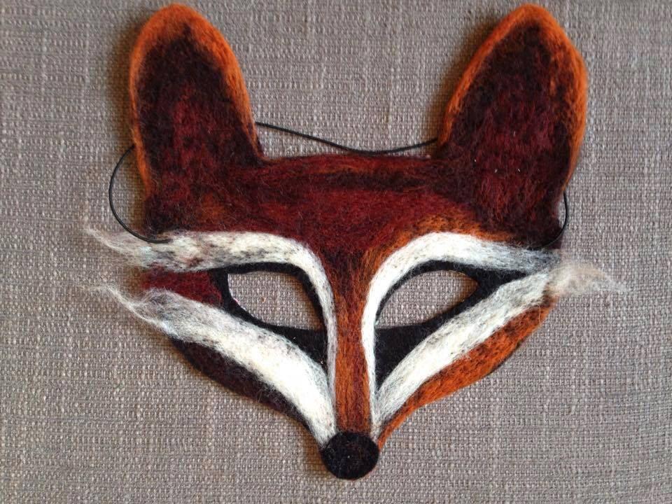 needle felt fox masquerade mask halloween festival by. Black Bedroom Furniture Sets. Home Design Ideas