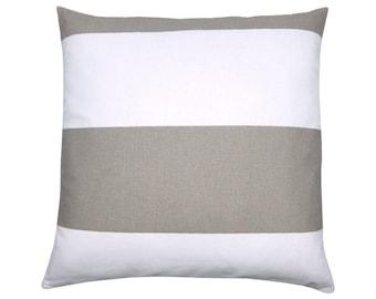 Pillowcase CABANA block stripe striped stripes white sand 40 x 40 cm