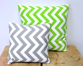 CHEVRON pillow grey white zigzag stripes Scandinavian country house 40 x 40 cm