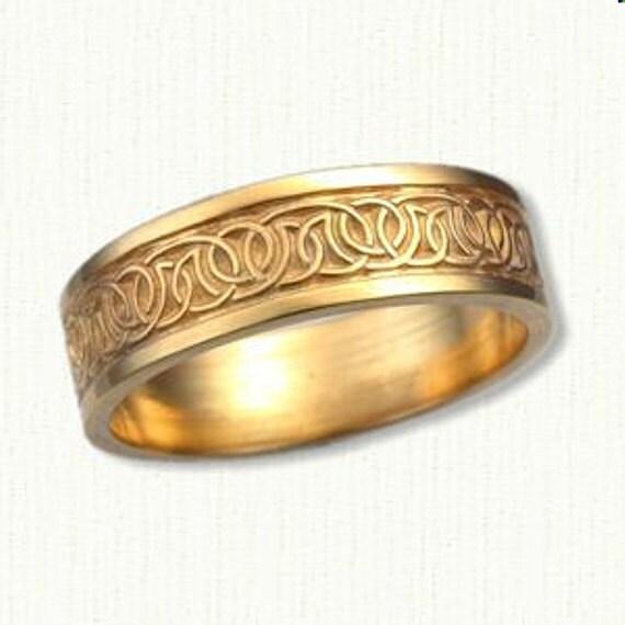 Celtic Dornoch Knot Wedding Band Ladies Or Mens 7mm By RARUCOM