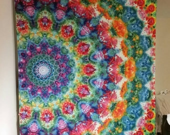 Large 12 pointed offset mandala tapestry