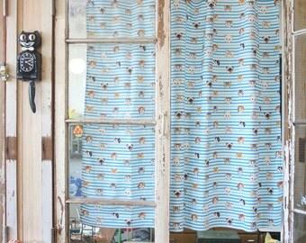 Cat 'Rumi's pattern fabric - Blue striped