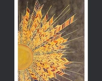 "Sunburst: GICLEE PRINT  18""X24""      W019"