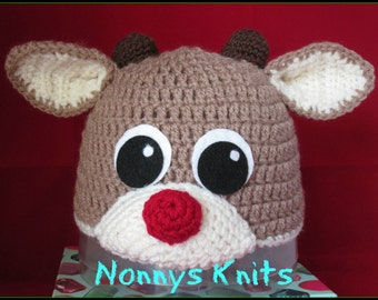 Baby Rudolf hat.  Prices vary, please see full listing for details