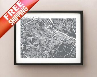 Augusta, GA Map Print