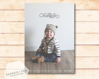Oh What Fun! // Simple Holiday Photo Card