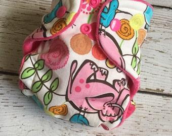 Safari newborn hybrid fitted cloth diaper
