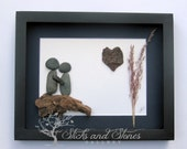 Unique Engagement Gift, Lover's Pebble Art, Personalized COUPLE'S Gift, Custom Wedding Gift, Love Gift, Unique Gift Idea, Bridal Shower Gift