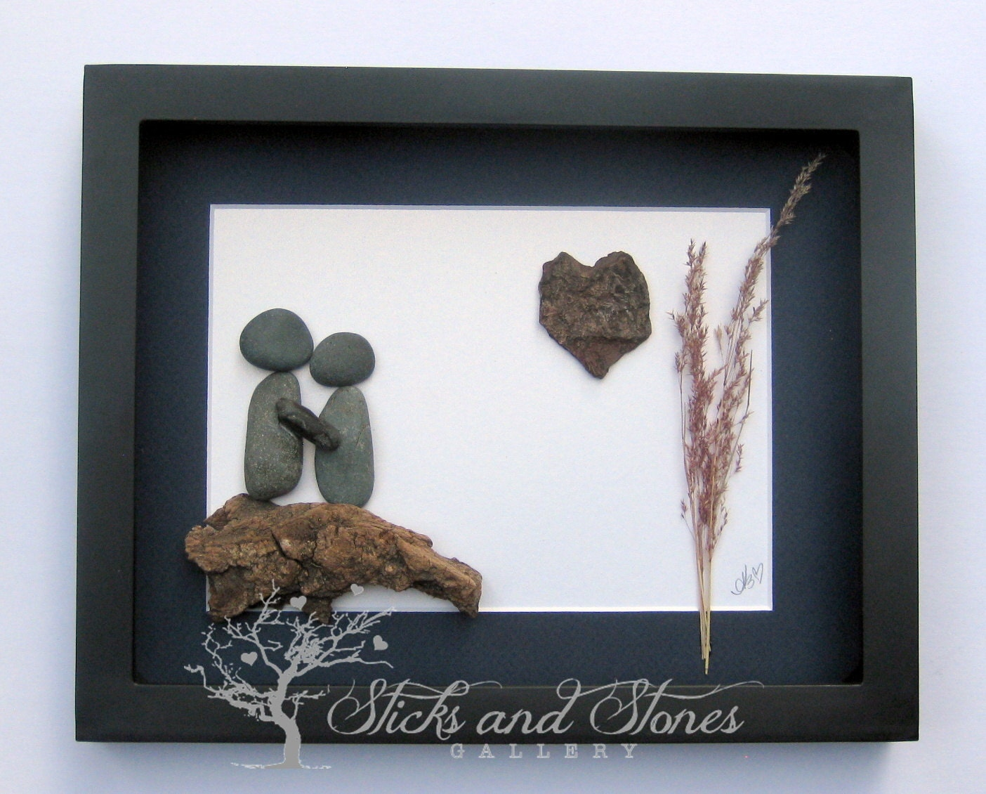 Unique Wedding Gifts For Older Couples: Unique Engagement Gift Couples Pebble Art Personalized