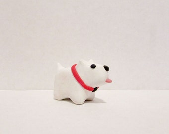 The Pygmy Pup / Miniature Polymer Clay Animal Totem / collectible, figurine, tiny