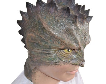 Lizard man full face silicon mask, Adult.