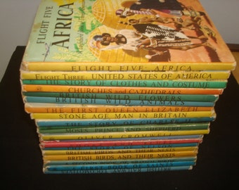 Set of 20 Mixed Series Ladybird Books with Dust Jackets