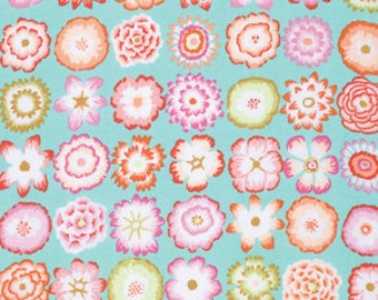 Kaffe Fassett Collective Button Flowers Aqua - 1/2yd