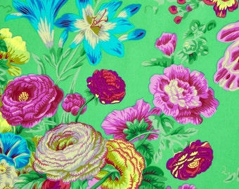 Kaffe Fassett Collective Floral Delight Green - 1/2yd