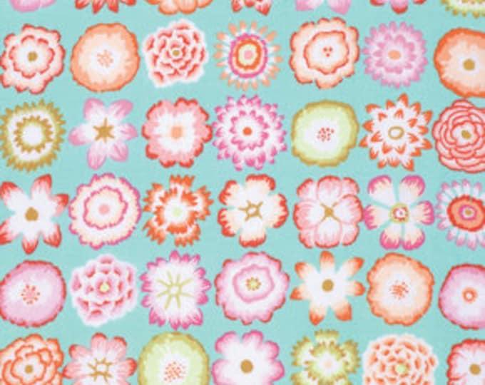 Kaffe Fassett Collective Button Flowers Aqua - 1/2yd