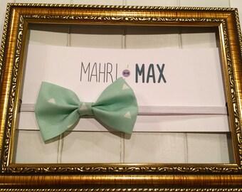Mint Fabric Bow Headband
