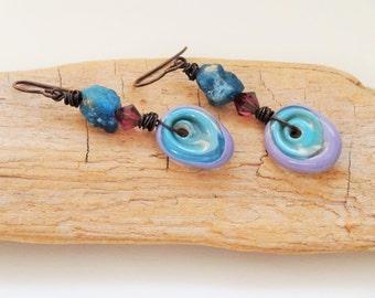 Paisley Parque earrings -  Artisan, Dangle, Bohemian, Earthy