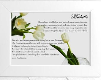 Personalised Friend Framed Poem