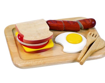 Breakfastset 1, Wooden Play Food
