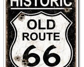 Historic Old Route 66 Sign Vintage REPRO Postcard