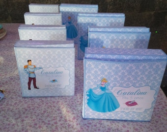 Cinderella Printable Party Favor Boxes Template - High Quality Printable INSTANT DOWNLOAD