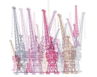 Dancing Cranes, Bristol Limited Edition Print