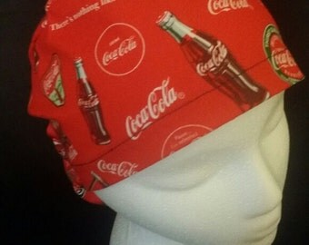 Drink Coca Cola Coke Ponytail Bow Tie Style Surgical Scrub Hat