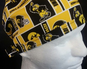 Iowa Hawkeyes Tie Back Surgical Scrub Hat University of Iowa