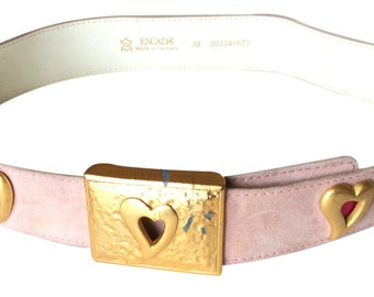 Vintage Escada Gold & Pink Belt