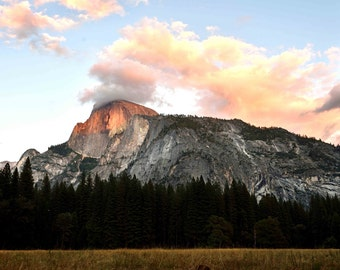 Yosemite Half Dome Sunset - Yosemite National Park Mountains Landscape Travel Fine Art Photography Print