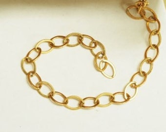 Oval Gold Chain/ gold over sterling silver sold per ft.