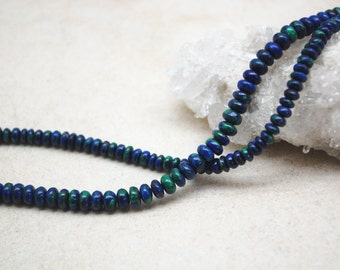 Azurite Rondelle Beads 4mm
