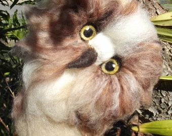 Owl, Needle felted Owl, Needle felted bird, Felted Owl