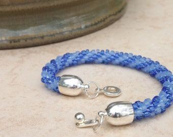 Feeling Blue Kumihimo with Clasp