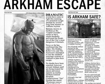 Batman - Gotham Globe INSPIRED A3 Newspaper Poster