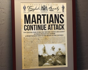 War Of The Worlds INSPIRED A3 Newspaper Poster