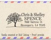 Custom Return Address Stamp - Personalized Address Stamp - Big Tree - AW23