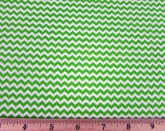 Mini Chevron Lime Fabric By the Yard