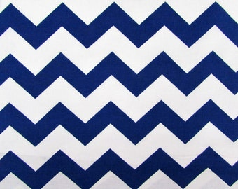 "1"" Deep Blue Chevron Fabric"