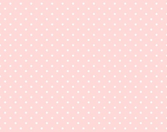 Per Yard, Sorbet Carnation Pink Mini Dots Fabric From Quilting Treasures